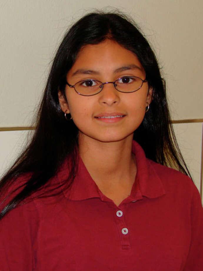 Delia Salas was named student of the week at Rowe Intermediate.