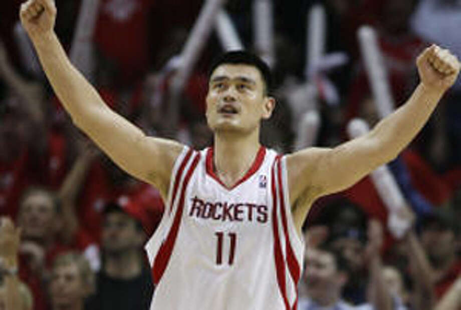 Rockets center Yao Ming scored 17 points in Thursday's series-clinching win against the Blazers.