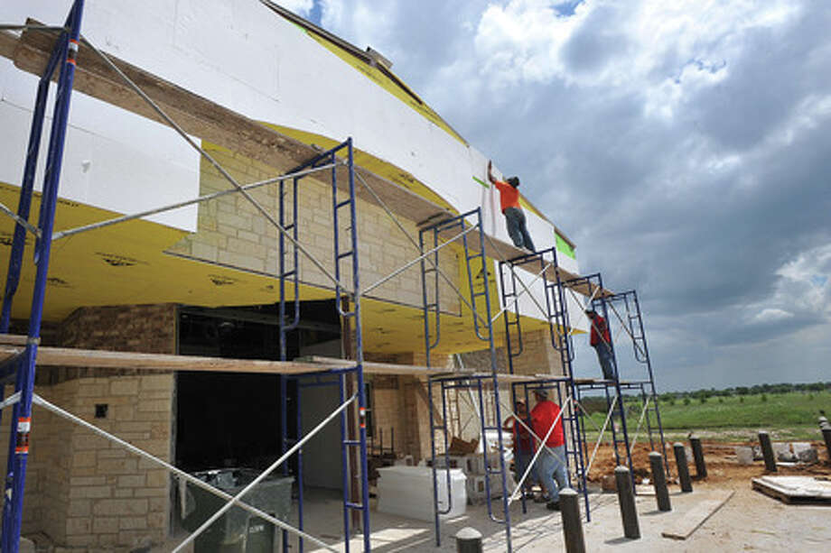 The new Social Security building is under construction near Major Drive and Dishman Road. The $1.5 million building is slated for completion around the middle of July. Guiseppe Barranco/The Enterprise
