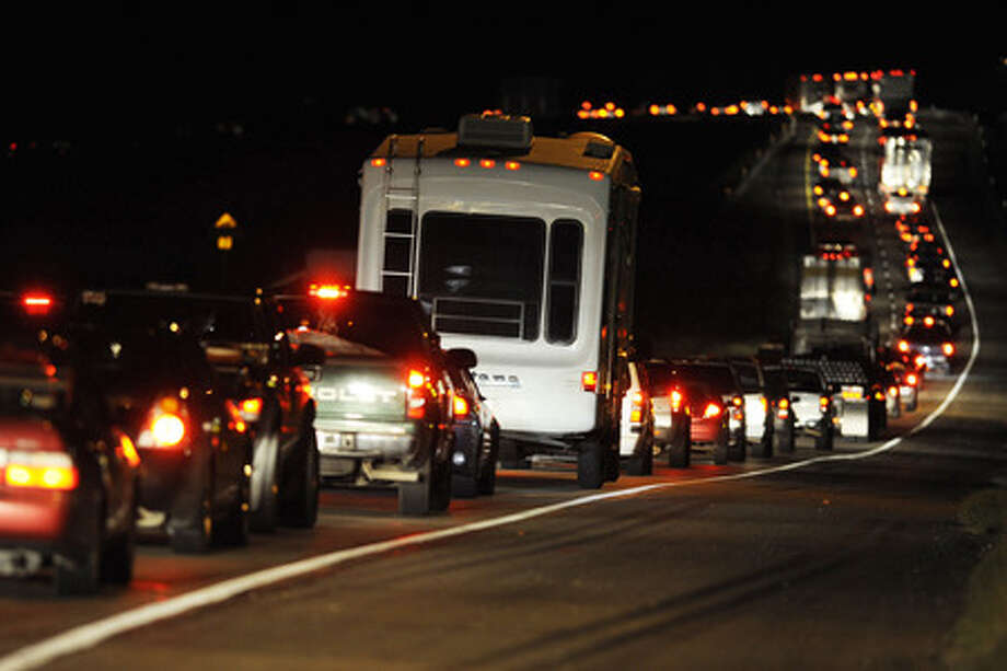 Thousands flee the threat of Hurricane Ike  along Loop 287 in Lufkin this past September. Enterprise file photo