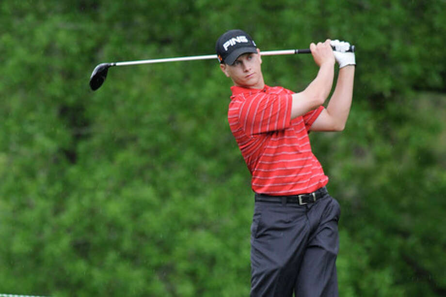 On Tuesday, former Port Neches-Groves and Lamar University golfer Chris Stroud familiarized himself with the Redstone Golf course for the upcoming Shell Houston Open on April 2-5.  Valentino Mauricio/The Enterprise