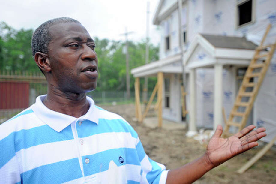 Former Magnolia Gardens resident Larry Bradley, 47,  says he is excited about returning to a new home on the redeveloped site now named Pointe North.   Valentino Mauricio/The Enterprise