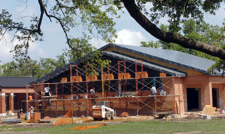 The under construction-community center at Alice Keith Park. Pete Churton/The Enterprise