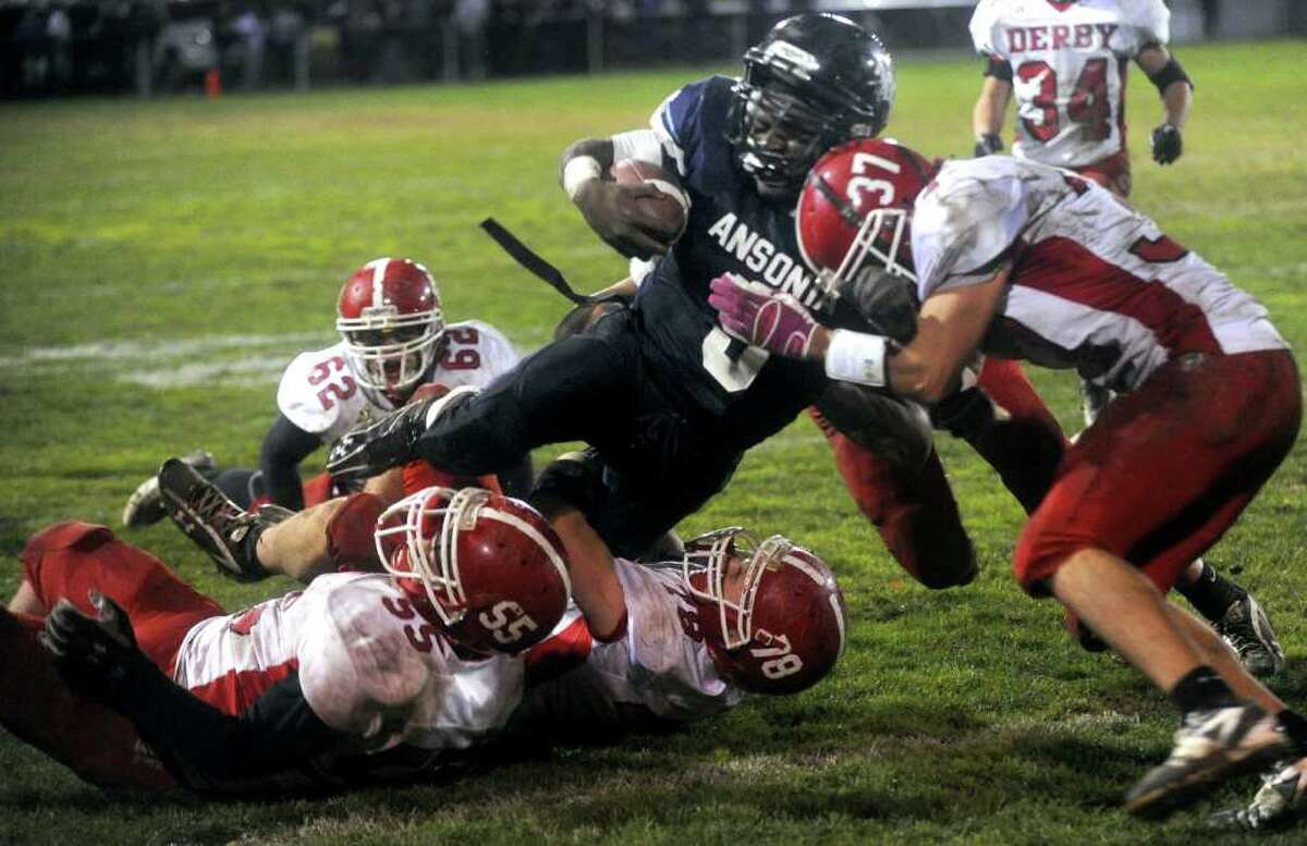 during Friday's game at Jarvis Field in Ansonia on October 29, 2010.