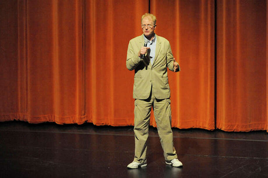 Actor, environmentalist, and activist, Ed Begley, Jr. spoke at the Lutcher Theater on Tuesday night about living green as part of the Earth Week celebration in Orange.   Valentino Mauricio/The Enterprise