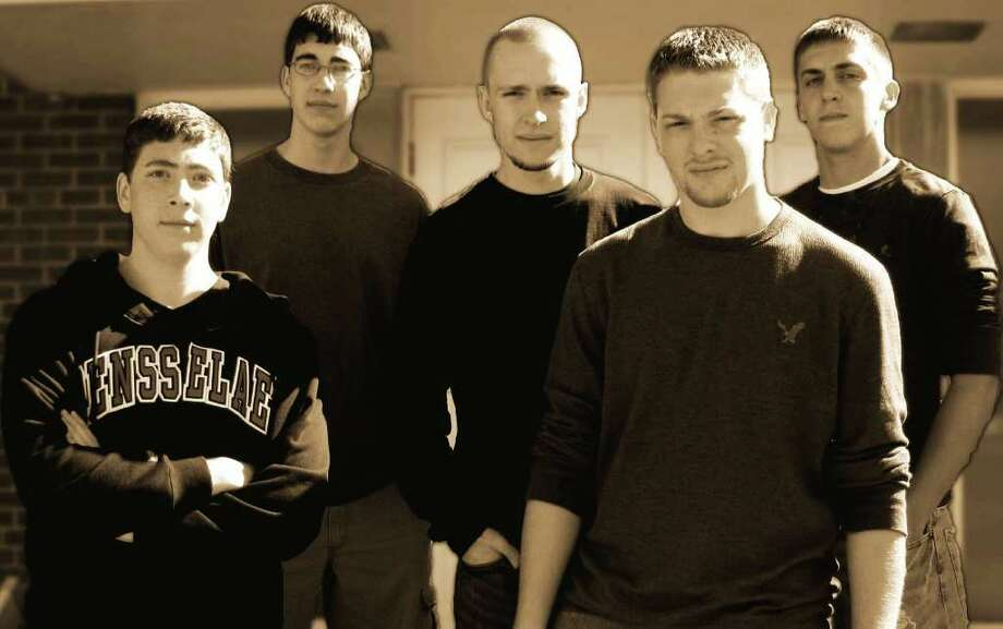 Members of the Red Letters are, from left,  Christian Multunas, Joshua Multunas, Michael Giddings, Jason Laz and Daniel McAuley. Photo provided by the band.