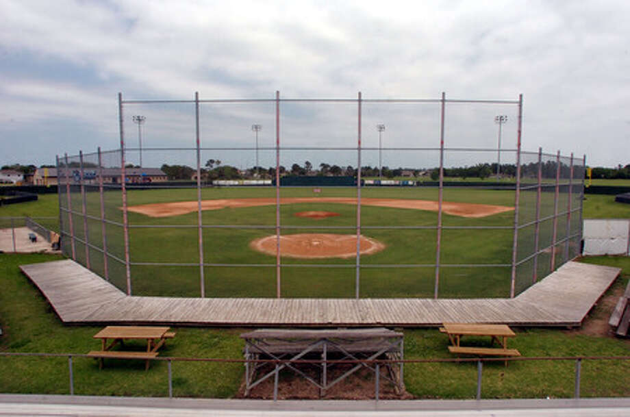 The baseball diamond at West Brook High School sits idle Monday afternoon. Pete Churton/The Enterprise
