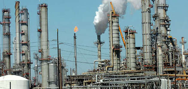 The Total Petrochemicals USA refinery in Port Arthur produces asphal
