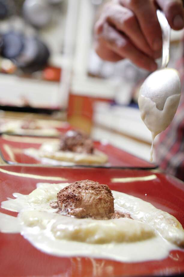 (Suzanne Kawola/Life@Home) Sauteed Bananas in Coconut milk with Ovaltine encrusted ice cream