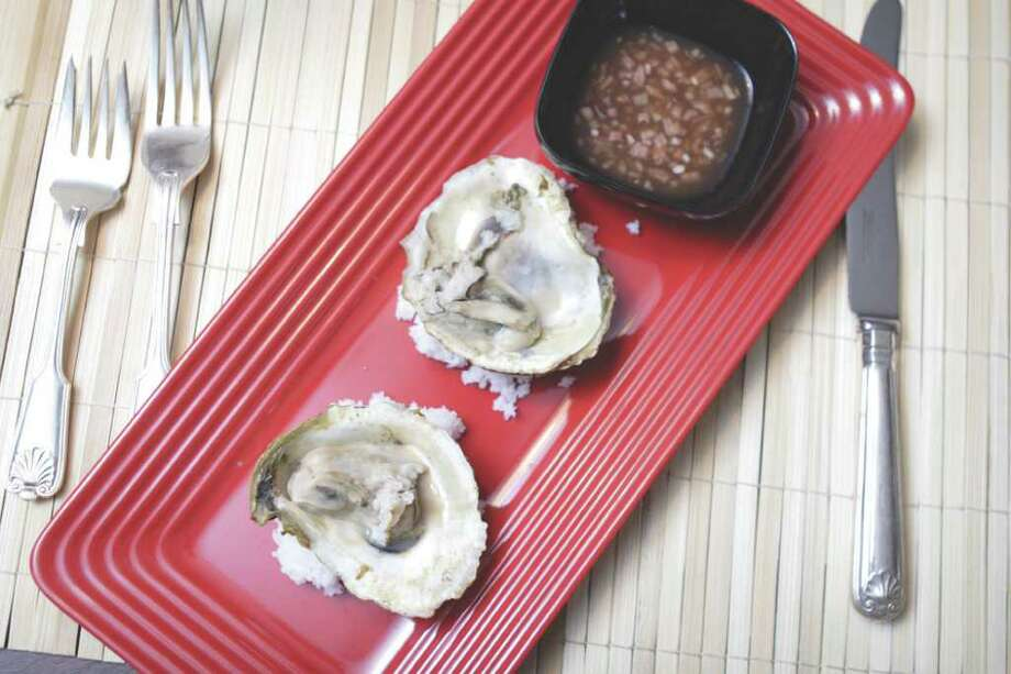 (Suzanne Kawola/Life@Home) Hickory Smoked Oyster and Backwoods Mingnonette