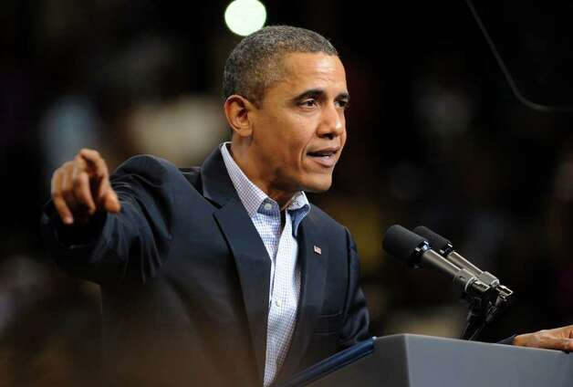 "2010: A rally called ""Moving America Forward"" with President Barack Obama was held at the Arena at Harbor Yard in downtown Bridgeport Photo: Christian Abraham / Connecticut Post"