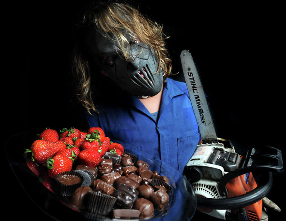 Leatherface poses for a portrait in Beaumont, Tuesday. Tammy McKinley, The Enterprise