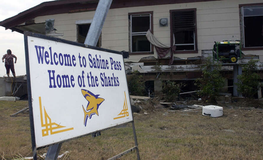 Diane Bergeron lived in this Hurricane Ike-damaged home in Sabine Pass. Dave Ryan/The Enterprise