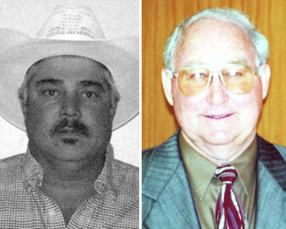 Mark Arena, left is running against Hardin County Commissioner Ken Pelt four years after punching him. Photo/Enterprise File