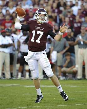 Aggies quarterback Ryan Tannehill passes during the third quarter of Texas A&M's victory over Texas Tech.