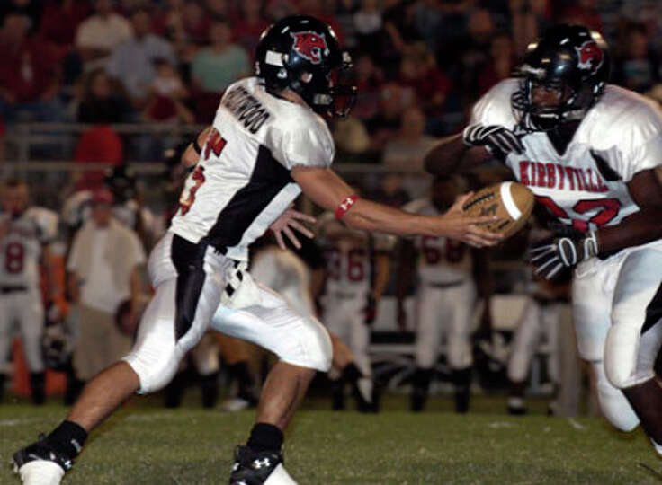 Kirbyville's Broderick Jackson (32) was instrumental in the Wildcats 61-7 victory over Shelbyville.