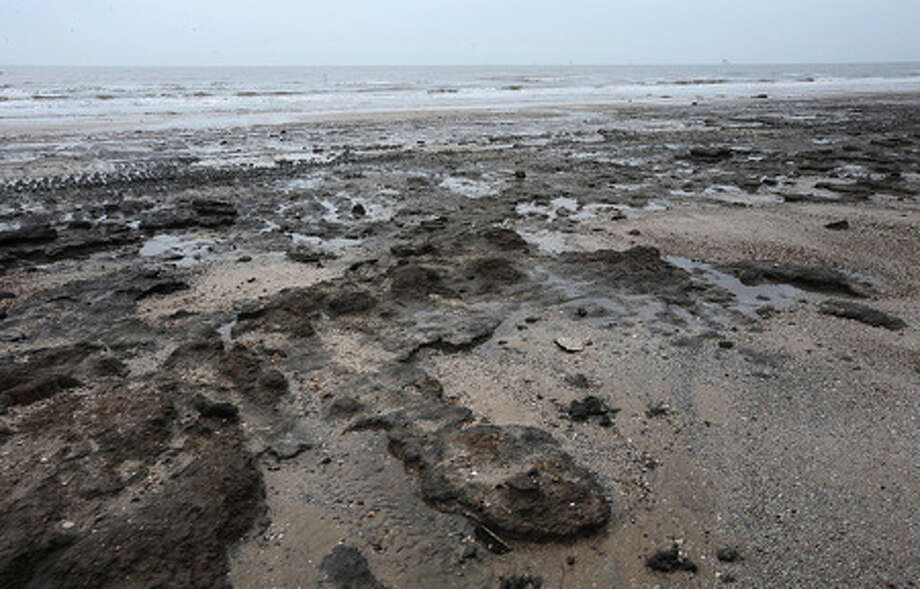 Mud now covers much of McFaddin Beach that was once used by beach goers before Hurricane Ike. Thursday, November 13, 2008 Guiseppe Barranco/The Enterprise