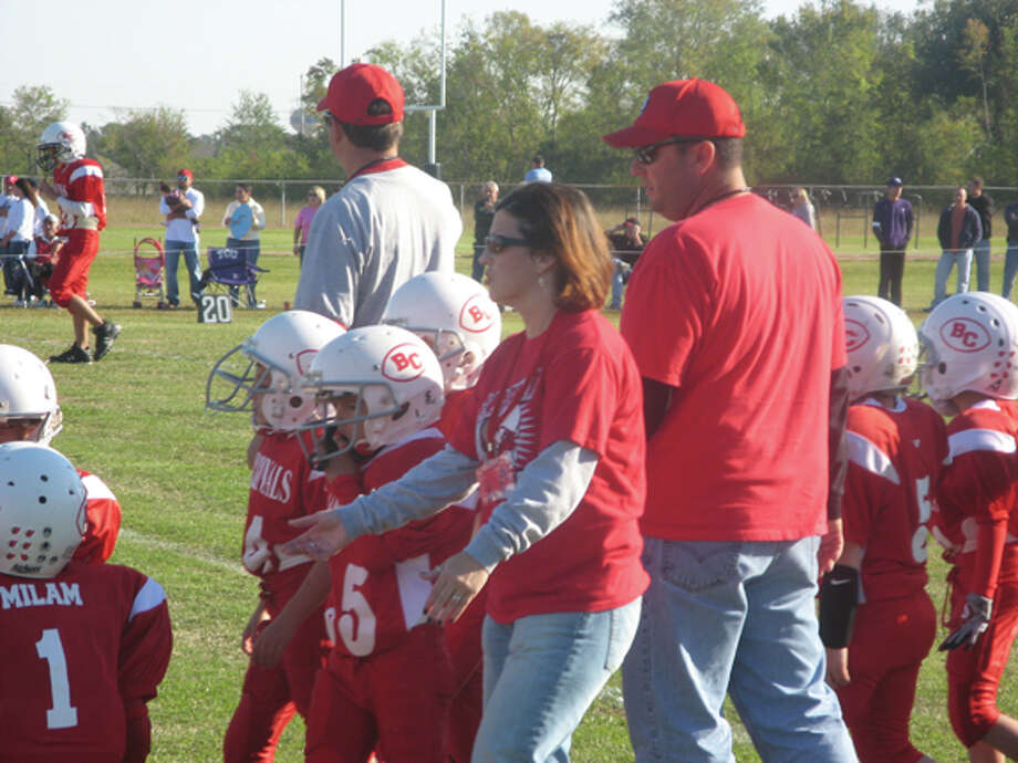 Bridge City and Lumberton pee wee league youth football teams met following the Nov. 15 brawl between coaches from the two teams from the same communities again Saturday. Ryan S. Clark/The Enterprise