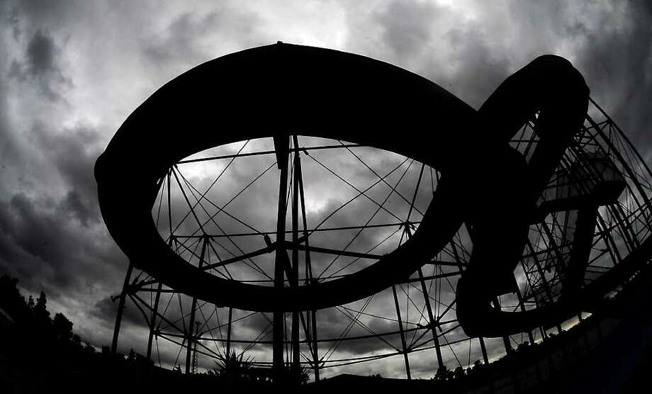 The outer bands of Hurricane Gustav moves over Boomtown USA Waterpark in Rose City, Monday. Tammy McKinley/The Enterprise