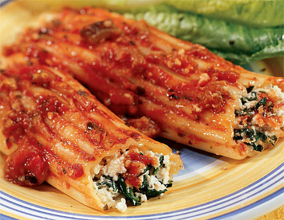 """Cannelloni with Tomato Eggplant Sauce is among recipes in """"The Vegetarian Slow Cooker."""""""