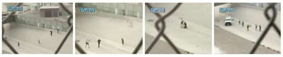 Images from a video taken from the Mexican side of the border show a Border Patrol agent detaining a man before firing toward Mexico.