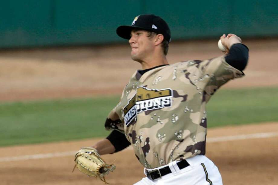 Starter Cory Luebke delivers a pitch against the Corpus Christi Hooks during the Missions' come-from-behind victory.