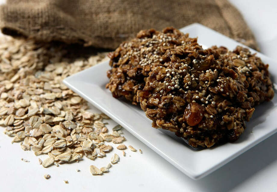 Quinoa is a healthy addition to a recipe for oatmeal cookies.