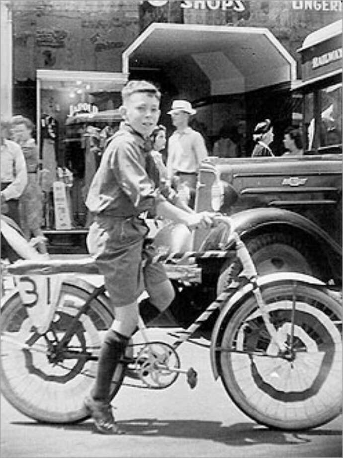 Jack Judson Jr. bought his first bike with $12 he earned making deliveries for Broadway Pharmacies in Alamo Heights.