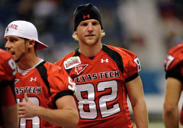 Texas Tech's Adam James, shown at a practice for the Alamo Bowl, was at the center of the Mike Leach controversy.