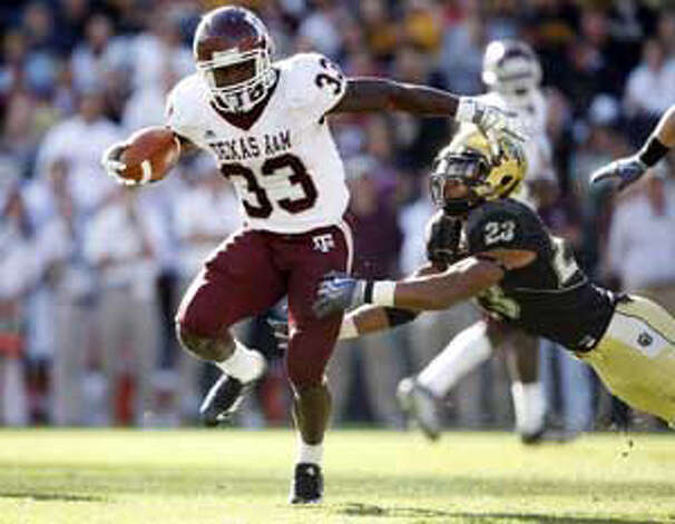 Texas A&M running back Christine Michael is aiming for 1,000 yards after notching 844 as a freshman last season. / Jack Dempsey/Associated Press