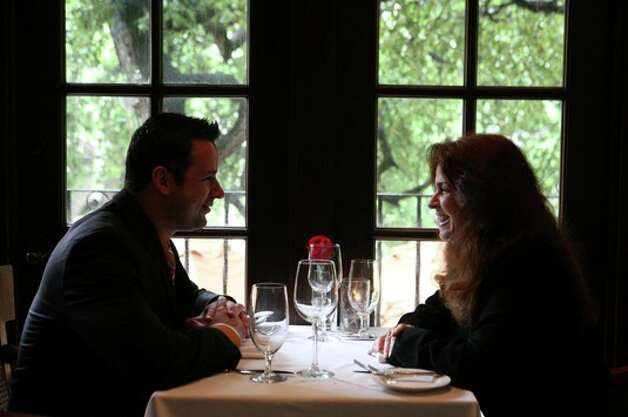 Romantic dining at the Las Canarias Restaurant in La Mansion Hotel.