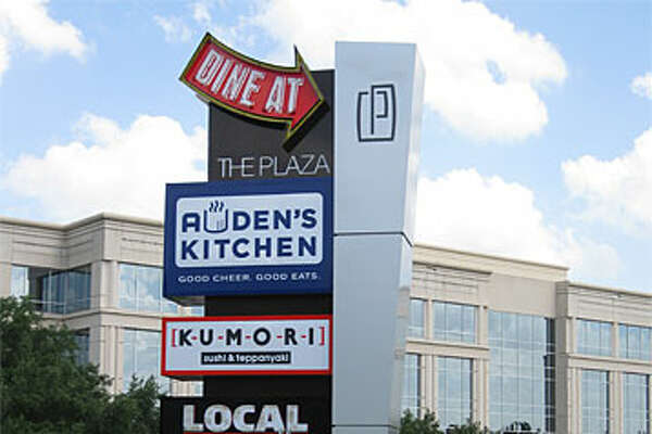 The marquee at Plaza at Concord Park marks the different kinds of eateries available to Stone Oak diners.