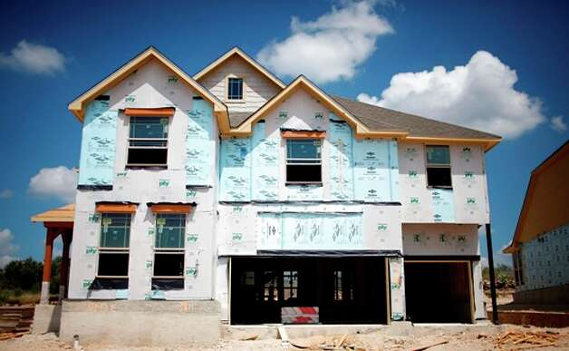 Seen is a Lennar home under construction at the Preserve at Indian Springs in the Northeast Side. The homebuilder is the first large national builder to agree to build all of its area homes to specifications of the Build San Antonio Green program.