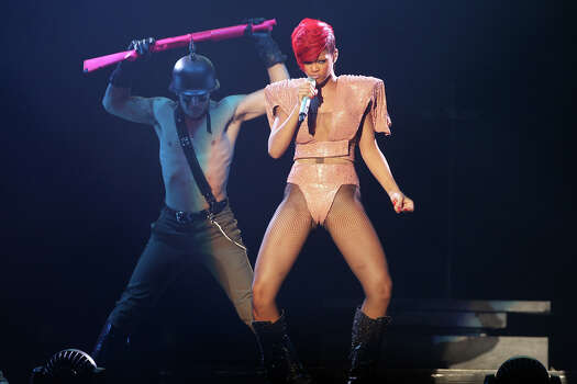 Rihanna performs. / special to the Express-News