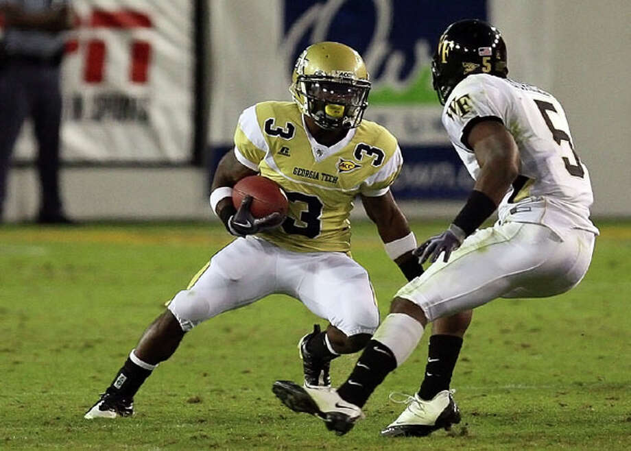 Marcus Wright, RB, Georgia Tech: The junior from Reagan, here running against Wake Forest last year, is listed as a second-team back for the Yellowjackets.