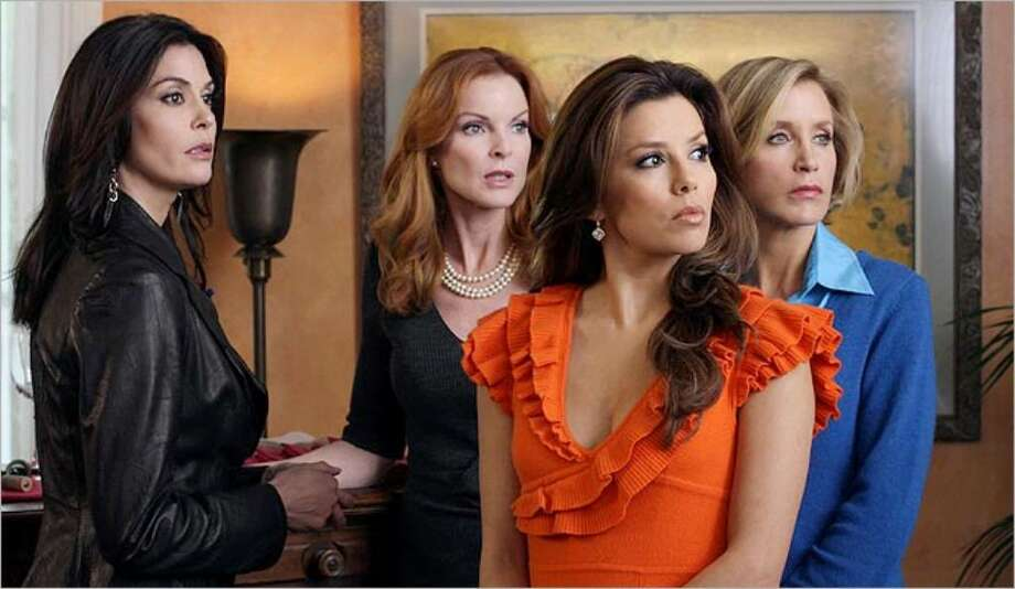 Producers promise even more conflict among the women of Wisteria Lane, played by Teri Hatcher (from left), Marcia Cross, Eva Longoria Parker and Felicity Huffman. ERIC McCANDLESS / ABC