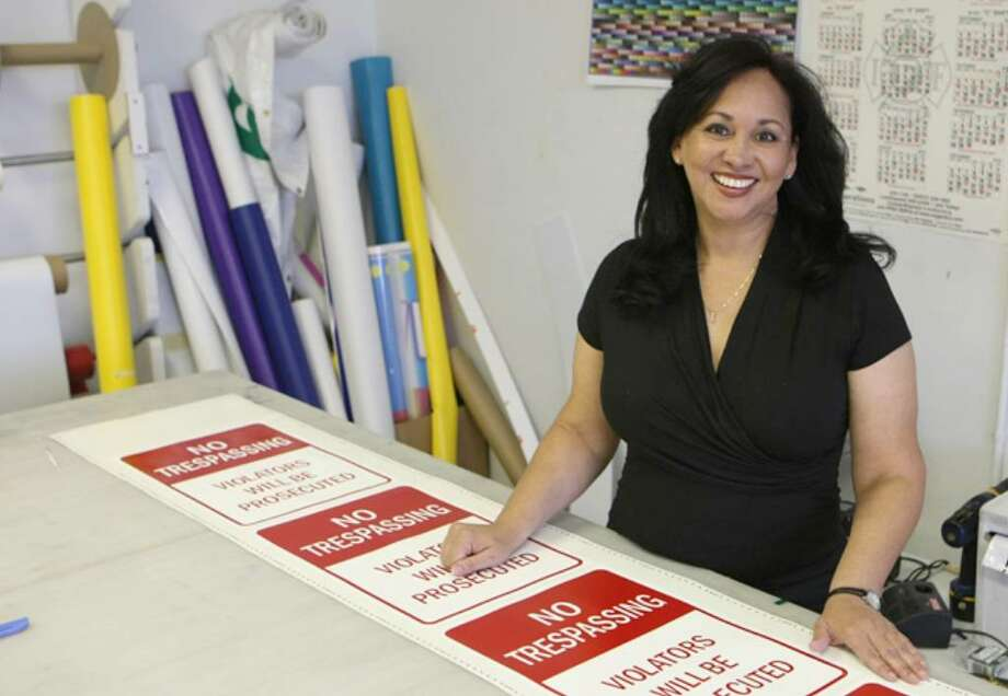 Rachel Fuentes and her husband, Roger, have provided a variety of business sign products and services from their shop in downtown San Antonio since 2004.