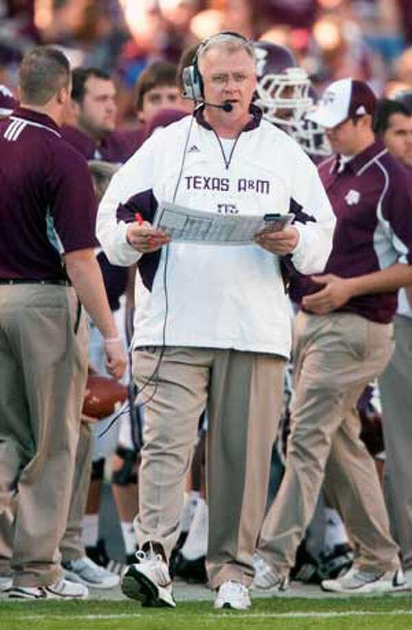 Mike Sherman is entering his third season as coach at Texas A&M.