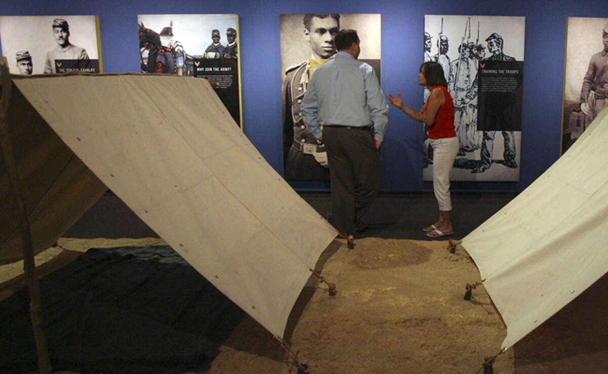 Old photos of Buffalo Soldiers are part of a new exhibit at the Institute of Texan Cultures. It runs through Jan. 3.