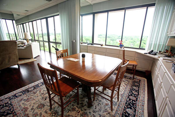 The owners knocked out a wall separating the kitchen and the living room so both rooms would have the same great view.