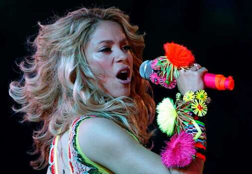 Colombian pop star Shakira, center stage, performs during the closing ceremony of the 2010 FIFA World Cup in Johannesburg, South Africa earlier this month.