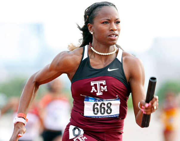 Gabby Mayo, running in the 4x100 relay on May 29, will try to set a school record in the 100-meter hurdles this week in Eugene, Ore.