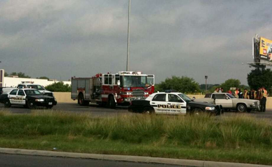 A man was seriously injured after he was trapped in a burning car on Loop 410 near Culebra Road around 8:30 a.m.