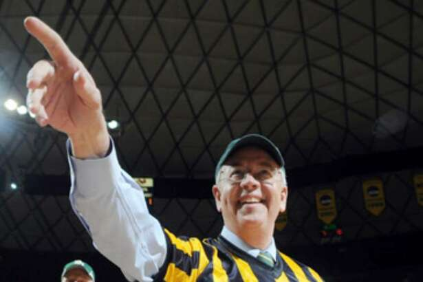 """Kenneth Starr took over as Baylor's president in February. """"Members of our board of regents are working tirelessly to make Baylor's case known ... but our energy is devoted entirely to keeping the Big 12 together,"""" Starr said Monday."""
