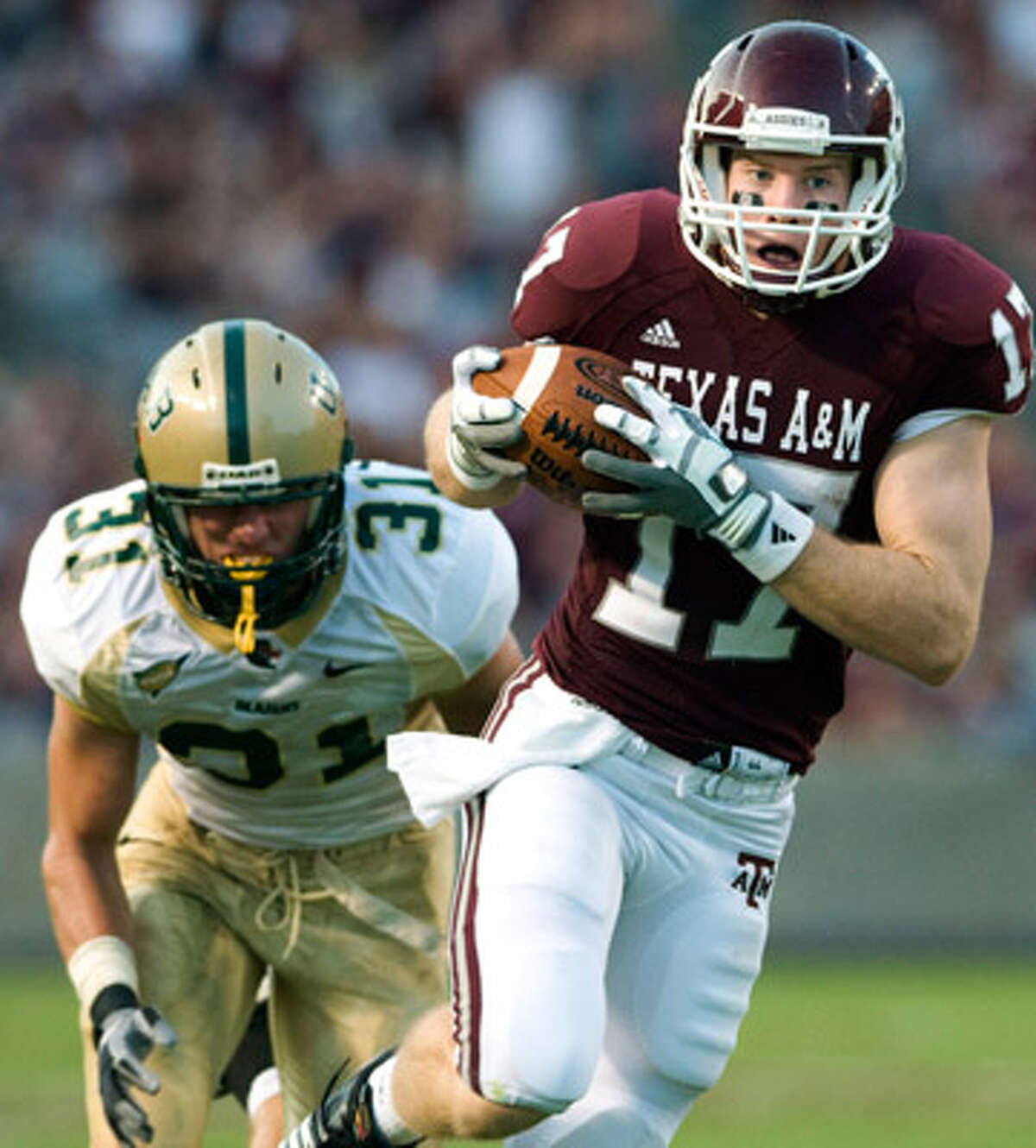 Ryan Tannehill is the Aggies' No. 1 active career receiver as well as their backup quarterback.
