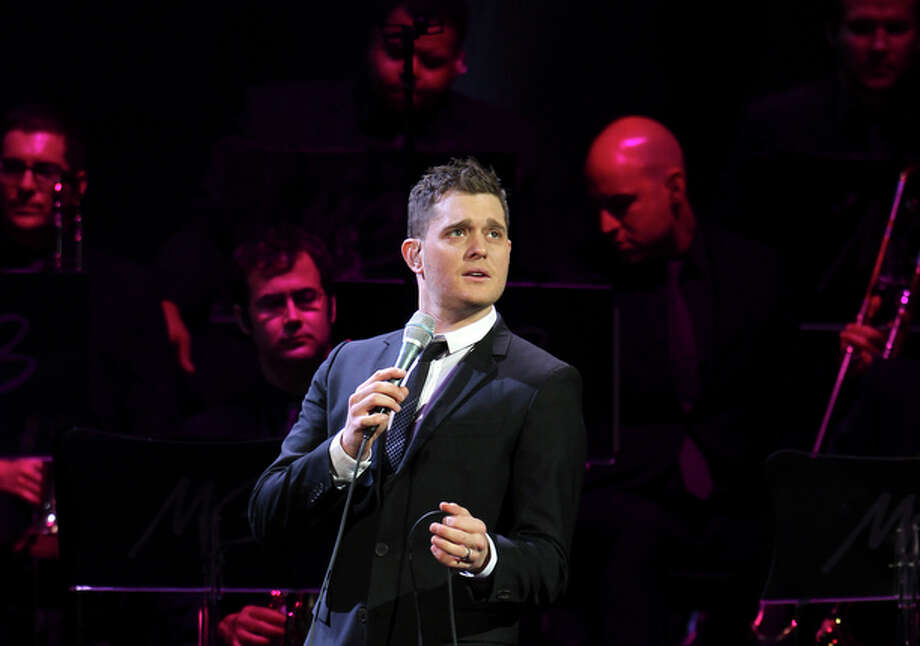 "Michael Bublé took it old-school with favorites ""All of Me"" and ""Mack the Knife."" / © 2010 San Antonio Express-News"