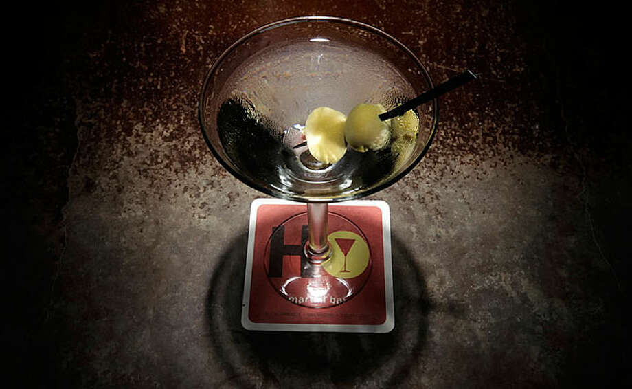 The standard martini stands the test of time at SoHo Wine & Martini Bar on West Crockett Street. / San Antonio Express-News