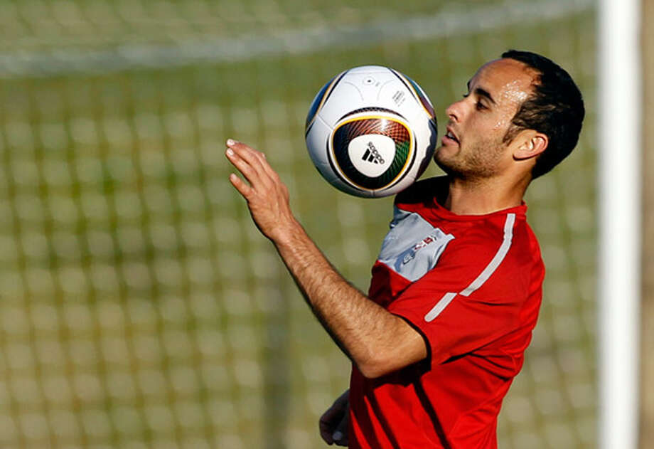 Landon Donovan, shown during training in Pretoria, South Africa, earlier this week, leads United States attack.