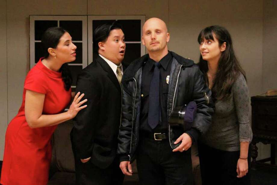 """The Darien Players rehearse for """"Cahoots."""" Photo: Contributed Photo / Darien News"""