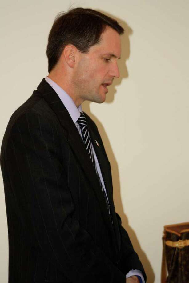 Rep. Jim Himes (CT-4) stopped by the Democratic headquarters to thank everyone for their hard work. Photo: Ben Holbrook Contributed Photo, Contributed Photo / Darien News